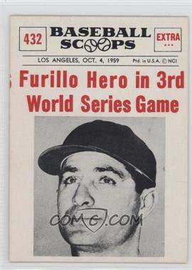 1961 Nu-Cards Baseball Scoops - [Base] #432 - Carl Furillo