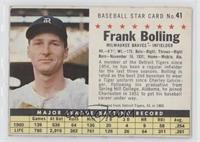 Frank Bolling (Perforated)