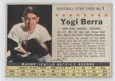 1961 Post Cereal #1.2 - Yogi Berra (Perforated)