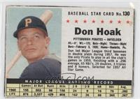 Don Hoak (Hand Cut) [GoodtoVG‑EX]