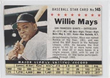 1961 Post Cereal #145.2 - Willie Mays (hand cut) [Authentic]