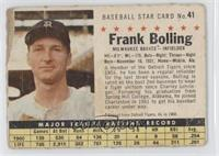 Frank Bolling (Perforated) [Poor]