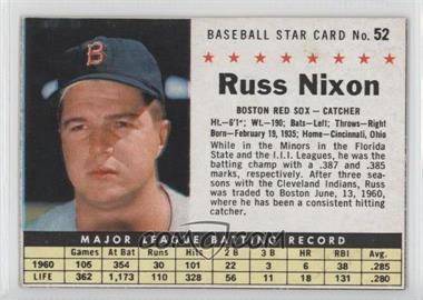 1961 Post Cereal #52.1 - Russ Nixon (Hand Cut)