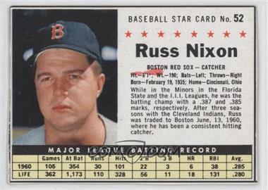 1961 Post Cereal #52.1 - Russ Nixon (Hand Cut)