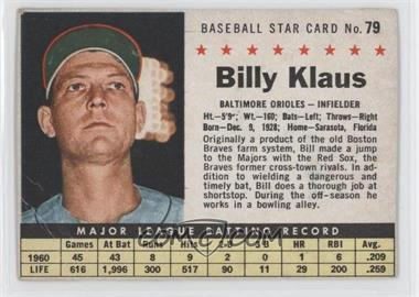 1961 Post Cereal #79 - Billy Klaus [Authentic]