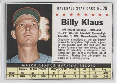 1961 Post Cereal #79 - Billy Klaus