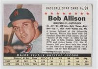 Bob Allison (Hand Cut) [Good to VG‑EX]
