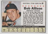 Bob Allison (Hand Cut) [Authentic]