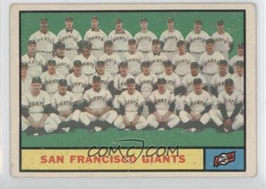 1961 Topps - [Base] #167 - San Francisco Giants Team [GoodtoVG‑EX]