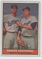 Dodger Southpaws (Sandy Koufax, Johnny Podres) [Poor to Fair]