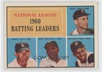 National League 1960 Batting Leaders (Dick Groat, Norm Larker, Willie Mays, Rob…
