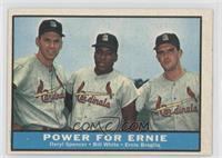 Daryl Spencer, Bill White, Ernie Broglio