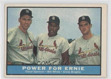 1961 Topps - [Base] #451 - Daryl Spencer, Bill White, Ernie Broglio