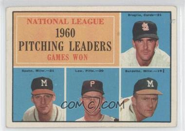 1961 Topps - [Base] #47 - National League Pitching Leaders (Ernie Broglio, Warren Spahn, Vern Law, Lou Burdette)