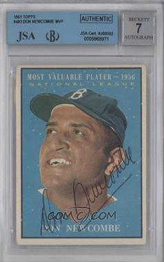 1961 Topps - [Base] #483 - Don Newcombe [BGS/JSA Certified Auto]