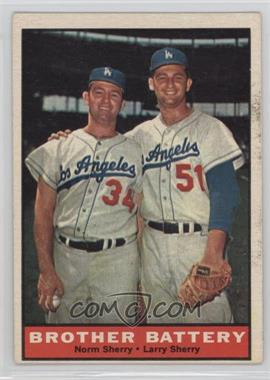 1961 Topps - [Base] #521 - Norm Sherry, Larry Sherry [GoodtoVG‑EX]