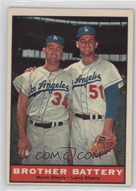 1961 Topps - [Base] #521 - Norm Sherry, Larry Sherry