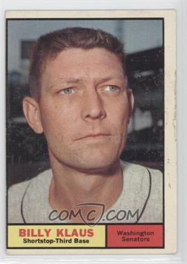 1961 Topps #187 - Billy Klaus [Good to VG‑EX]