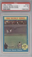 World Series Game #1 (Virdon Saves Game) [PSA4]