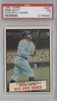 Baseball Thrills: Babe Ruth Hits 60th Homer [PSA 7]