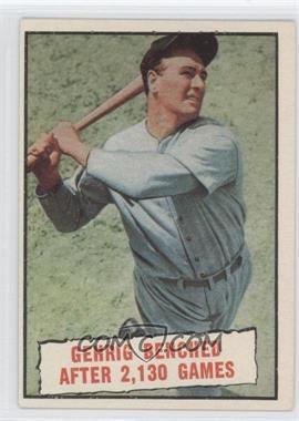1961 Topps #405 - Baseball Thrills: Gehrig Benched After 2,130 Games (Lou Gehrig)