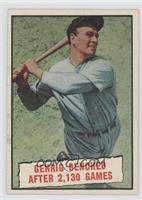 Baseball Thrills: Gehrig Benched After 2,130 Games (Lou Gehrig)