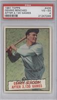 Baseball Thrills: Gehrig Bendched After 2,130 Games (Lou Gehrig) [PSA 4]