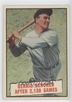 Baseball Thrills: Gehrig Bendched After 2,130 Games (Lou Gehrig) [Good to&…