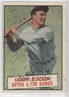 Baseball Thrills: Gehrig Bendched After 2,130 Games (Lou Gehrig)