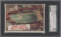 Baseball Thrills: Mantle Blasts 565 Ft. Home Run (Mickey Mantle) [SGC 80]
