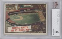 Baseball Thrills: Mantle Blasts 565 Ft. Home Run (Mickey Mantle) [BVG 4]