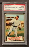 Baseball Thrills: Mathewson Strikes Out 267 Batters [PSA 8]