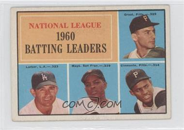 1961 Topps #41 - National League 1960 Batting Leaders (Dick Groat, Norm Larker, Willie Mays, Roberto Clemente)