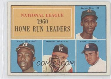 1961 Topps #43 - N.L. Home Run Leaders (Ernie Banks, Hank Aaron, Eddie Mathews, Ken Boyer)
