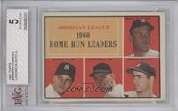 American League Home Run Leaders (Mickey Mantle, Roger Maris, Jim Lemon, Rocky …