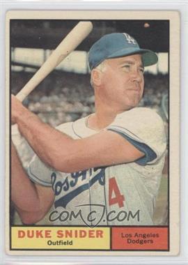 1961 Topps #443 - Duke Snider