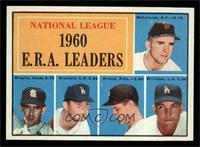 National League 1960 E.R.A. Leaders (Mike McCormick, Ernie Broglio, Don Drysdal…