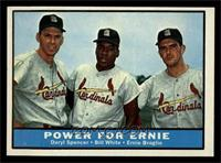 Daryl Spencer, Bill White, Ernie Broglio [NM MT]