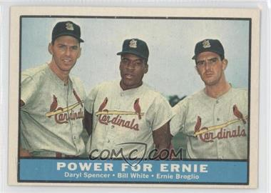 1961 Topps #451 - Daryl Spencer, Bill White, Ernie Broglio