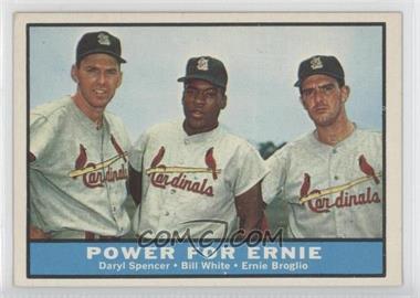 1961 Topps #451 - Daryl Spencer, Bill White, Ernie Broglio