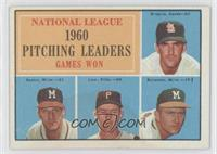 National League Pitching Leaders (Ernie Broglio, Warren Spahn, Vern Law, Lou Bu…