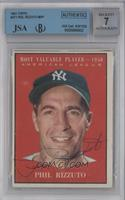 Phil Rizzuto [BGS/JSA Certified Auto]