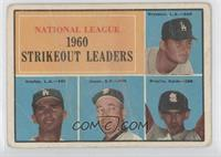 National League 1960 Strikeout Leaders (Don Drysdale, Sandy Koufax, Sam Jones, …