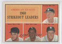 American League 1960 Strikeout Leaders (Jim Bunning, Pedro Ramos, Early Wynn, F…