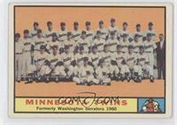 Minnesota Twins Team [Good to VG‑EX]