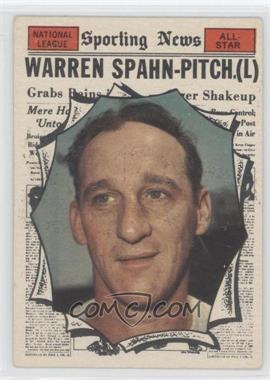 1961 Topps #589 - Warren Spahn