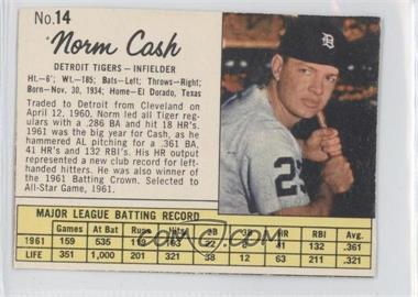 1962 Jell-O #14 - Norm Cash