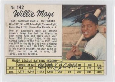 1962 Jell-O #142 - Willie Mays