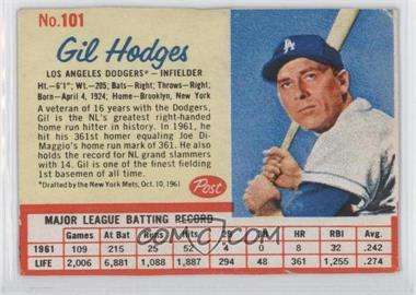 1962 Post - [Base] #101 - Gil Hodges