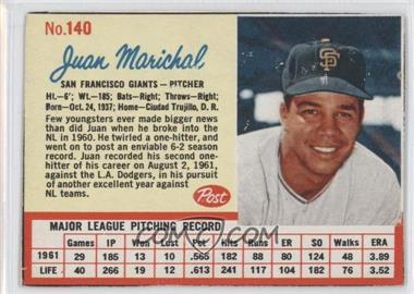 1962 Post - [Base] #140 - Juan Marichal